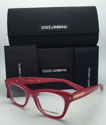New DOLCE & GABBANA Eyeglasses DG 3177 2775 Clear on Pink-Coral