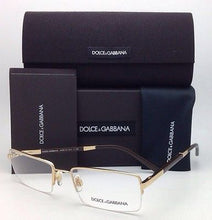 Load image into Gallery viewer, New DOLCE & GABBANA Rx-able Eyeglasses DG 1209 02 54-18 Gold and Brown Frames