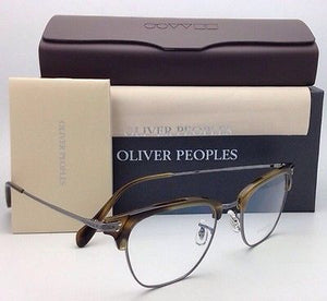 New OLIVER PEOPLES Eyeglasses BANKS OV 1145 5076 49-20 Tortoise & Pewter Frames