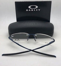 Load image into Gallery viewer, OAKLEY Titanium Eyeglasses WINGFOLD EVR OX5118-0453 Rimless Satin Midnight Blue Frame