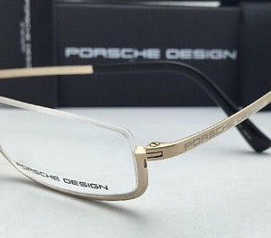 New PORSCHE DESIGN Titanium Eyeglasses Half Eyes P'8002 A - Semi-Rimless Gold Frames