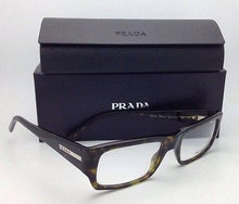 Load image into Gallery viewer, New PRADA Eyeglasses VPR 03I 2AU-1O1 52-18 Olive Brown Tortoise Plastic Frames