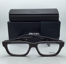 Load image into Gallery viewer, New PRADA Eyeglasses VPR 11Q DHO-1O1 52-18 145 Dark Brown and Black Plaid Frame