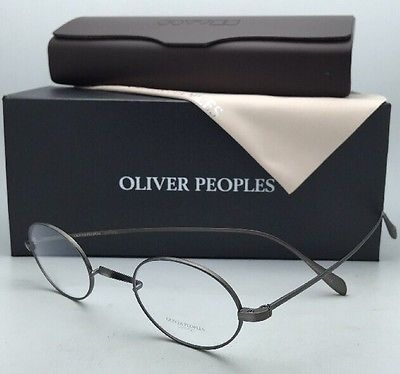 New OLIVER PEOPLES Eyeglasses CALIDOR OV 1185 5244 43-24 Gunmetal Pewter Saddle