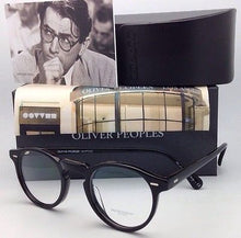 Load image into Gallery viewer, New OLIVER PEOPLES Eyeglasses GREGORY PECK OV 5186 1005 45-23 Round Black Frames