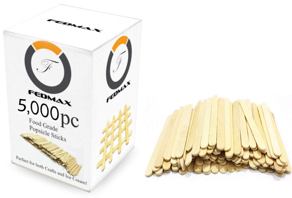Fedmax Popsicle Sticks, Choose Size, 4-1/2