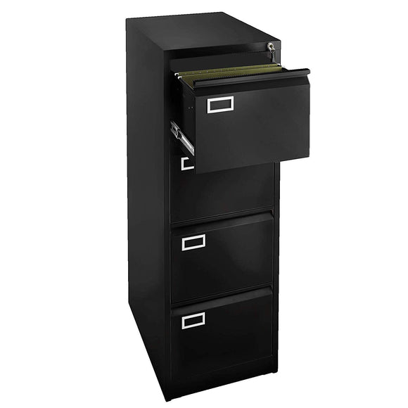 4 Drawer File Cabinet - Black
