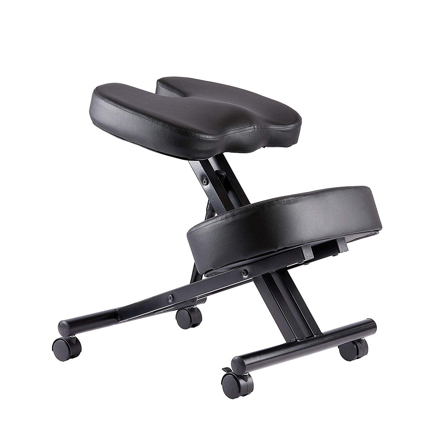 Kneeling Chair with Coccyx Seat, Choose Faux Leather or Mesh, Kneeling Chair for Better Posture.