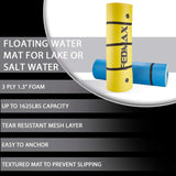 Floating Water Mat for Lake or Salt Water, Giant Pad, Choose Color, Large Boat Side Foam Raft for Adults and Kids.