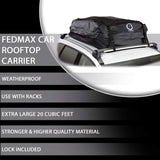 Fedmax Car Rooftop Carrier | Waterproof | Lock Included | Roof Top Luggage Bag (20CFT - Use with Racks)