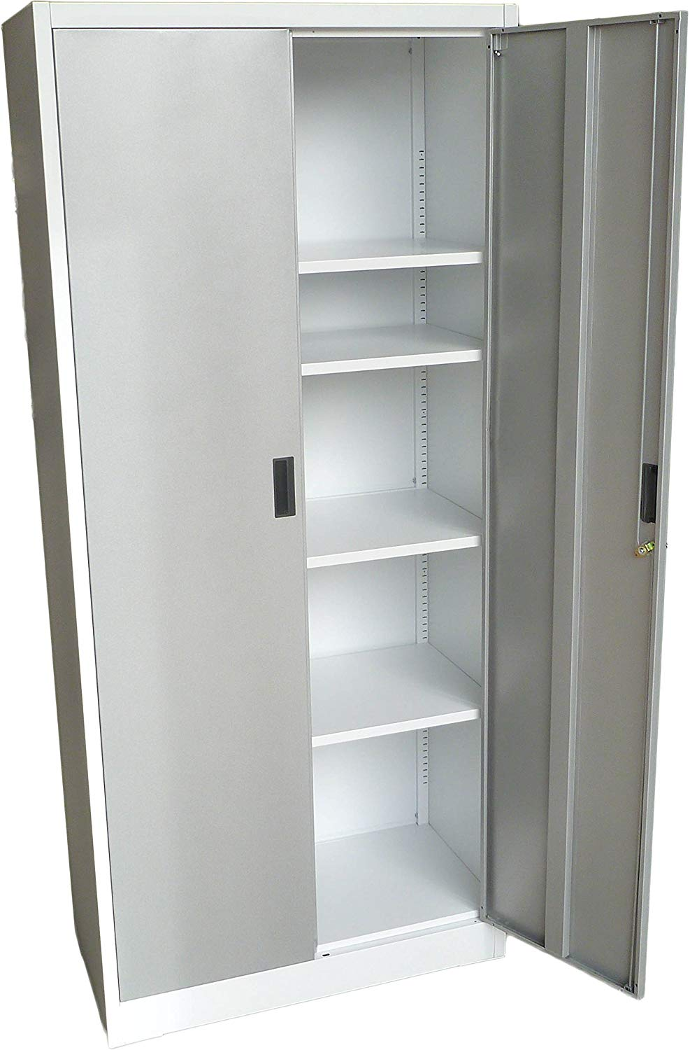 "Steel Storage Cabinet 71"" Tall with Lockable Doors and Adjustable Shelves, (Choose Color) 70.86"" Tall x 31.5""W x 15.75""D, by Fedmax."