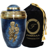 Cremation Urn for Ashes, for Adults up to 250lbs, Funeral Burial Urns w/Satin Bag for Human Ashes.