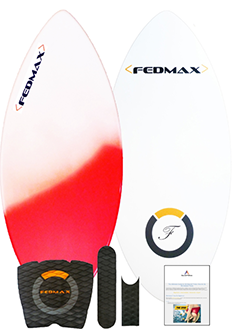 Copy of Fiberglass & Carbon Fiber Hybrid  Skimboard,52 In. (160lbs. to 220lbs.)