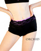 Lace Band Mid Waist Briefs