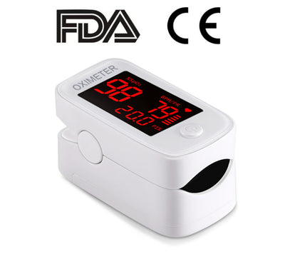 Fingertip Pulse Oximeter-Blood Oxygen Saturation Monitor-Heart Rate Monitor with LED Display