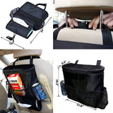 Car Seat Back Organizer and Cooler Set,Multi-Pocket Travel Storage Bag(Heat-Preservation