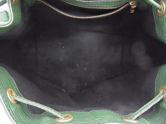 SOLD OUT: Vintage Louis Vuitton epi bucket in green. Stunning color as an accent.
