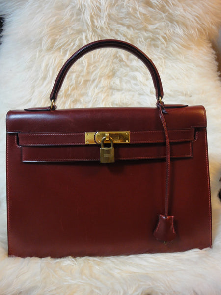 3b6fd71b71 ... inexpensive exterior 1980s vintage hermes kelly 32 bag rouge ash box  calf leather with gold hardware