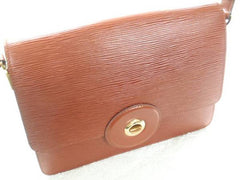 SOLD OUT: Vintage Louis Vuitton rare epi mod purse, brown. very chic and mod