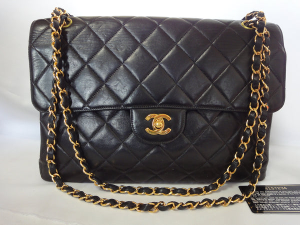 2890e0aa0366 Chanel Vintage 2.55 Black Classic Double Flap Bag | Stanford Center ...