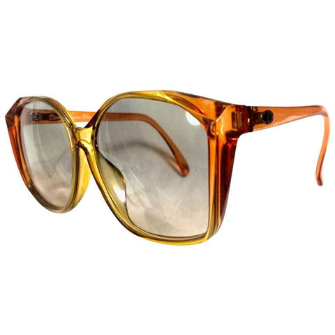 60's, 70's vintage Christian Dior orange and yellow sunglasses. Very rare classic retro eyewear back in the old era. Authentic mod piece.