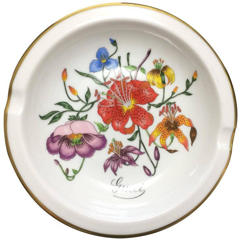 MINT. 70's vintage Richard Ginori for Gucci ceramic plate, porcelain ashtray. Rarest masterpieces from Ginori and Gucci collaboration.