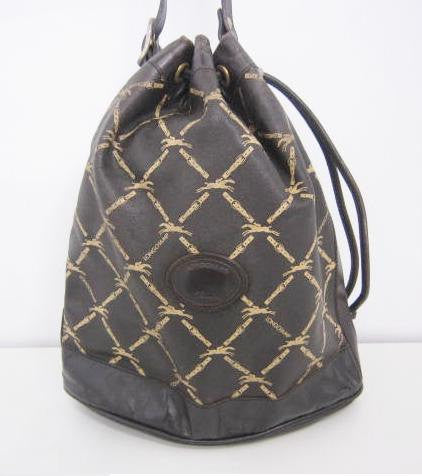 SOLD OUT: SALE  SALE SALE 80s Longchamp a rare 80's Vintage leather bucket