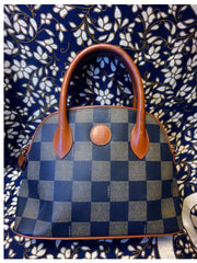 SOLD OUT: Vintage FENDI pecan stripe tote in classic bolide shape purse. Get a chic Fendi look with this.