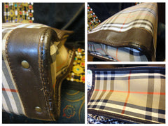 SOLD OUT: Vintage Burberry nova check tote bag with leather trimmings for unisex use. Great for work.