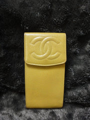 Vintage CHANEL iphone, mobile phone case, sunglass, cigarettes, pen pouch case with CC mark. Gift for unisex