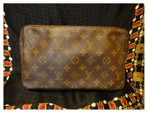 SOLD OUT: 70, 80s Vintage Louis Vuitton cosmetic and toilet pouch bag. Unisex use for all generations. great vintage gift