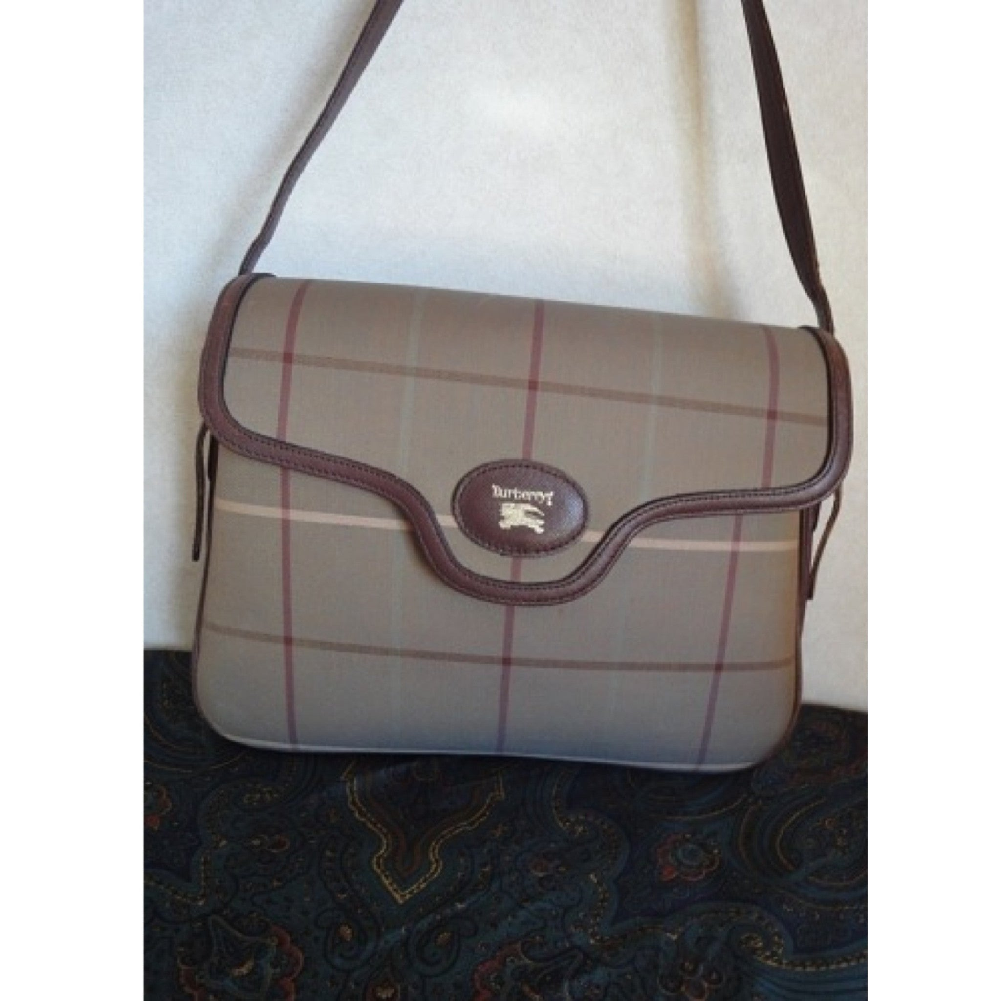SOLD OUT: Vintage Burberry check pattern shoulder bag