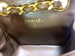 Vintage CHANEL brown lambskin mini 2.55 bag charm chain leather belt with golden CC charm. Belt bag, fanny pack chain belt. Must have.