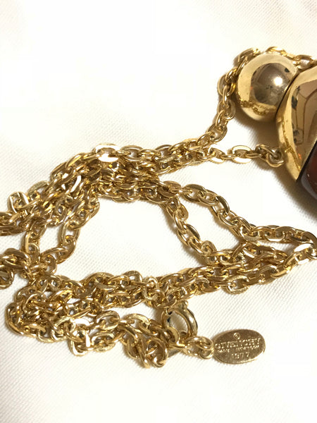 Vintage Givenchy gold chain necklace