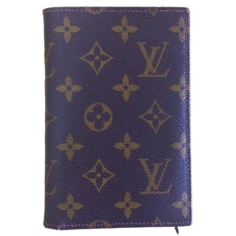 80's vintage Louis Vuitton brown monogram and leather wallet. Classic unisex wallet from the old era