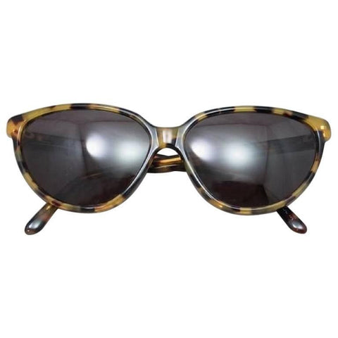 80's vintage Balenciaga French made tortoiseshell style marble brown frame sunglasses. Original mod style.