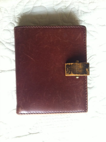SOLD OUT: Vintage Gucci leather wallet in wine brown. Great vintage gift piece for Gucci lovers and collectors