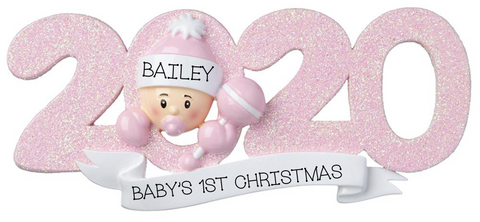 2020 Baby Girl, Personalized Christmas Ornament