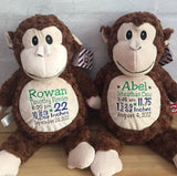 Personalized Monkey Cubbie