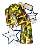 Camo Fatigues Personalized Christmas Ornament