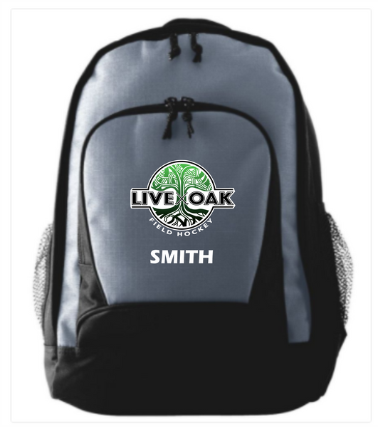 Live Oak personalized/embroidered backpack