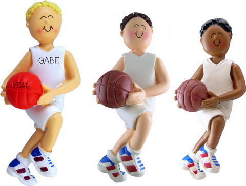 Basketball player, Male- personalized ornament
