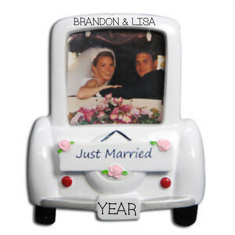 Wedding Frame/Old Fashioned Car Ornament