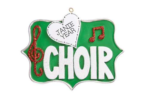 Choir- Personalized Christmas Ornament