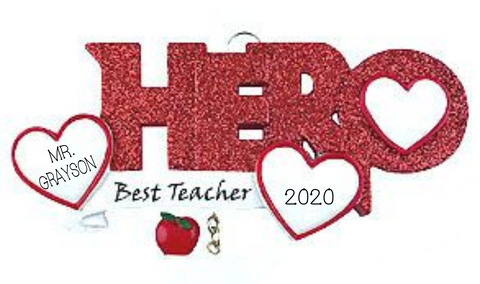 HERO Teacher- Personalized Ornament