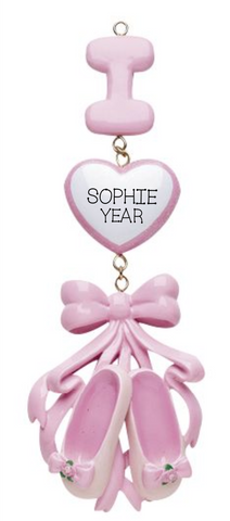 Dance, Ballet, I love ballet- Personalized Ornament