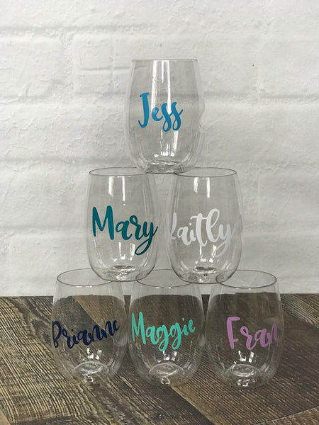 Personalized Govino Shatterproof Wine Glasses