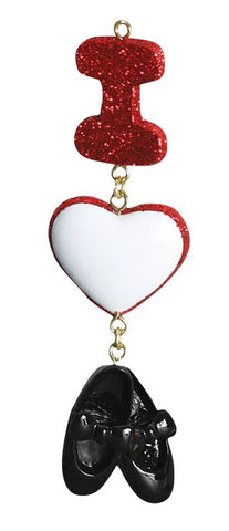 Dance, I love Tap- Personalized Christmas Ornament