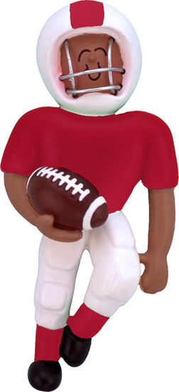 Football Player Red Uniform- Personalized Ornament