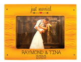 Just Married Faux Wooden Frame